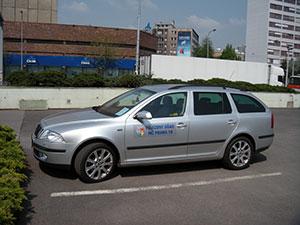 Automobil s označením městské části