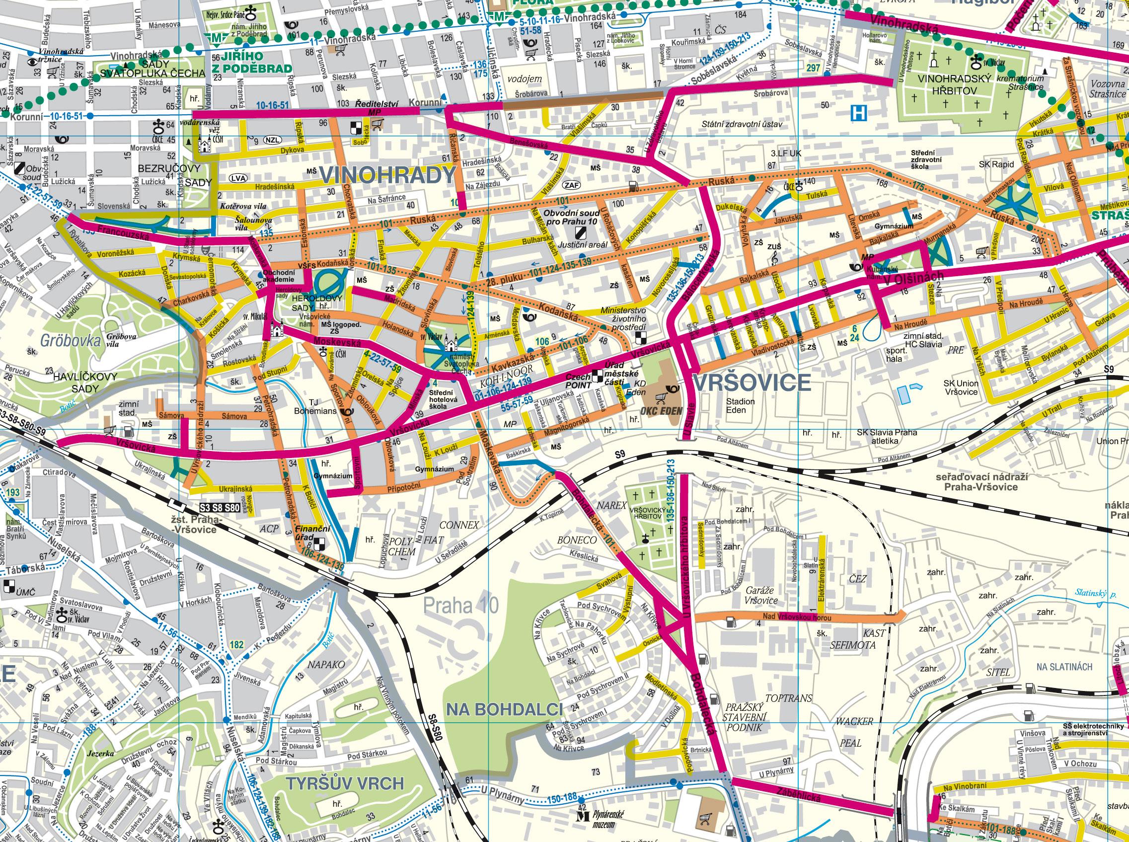 Mapy Zimniho Uklidu Chodniku V Praze 10 Mestska Cast Praha 10